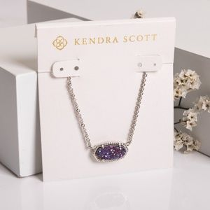 Kendra Scott Elisa Necklace Multicolor Drusy